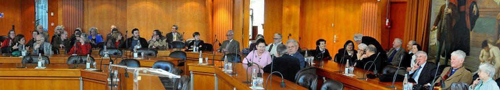 Le public présent dans la salle du Conseil Départemental de Mayenne
