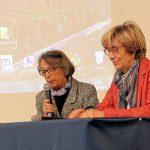 Mme CHASERANT présidente de l'Académie du Maine et Mme RIVRON vice-présidente du Conseil